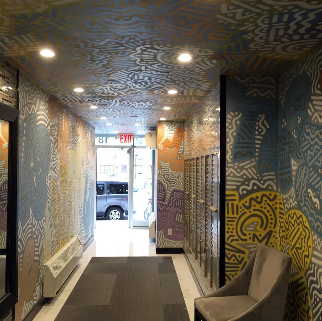 Street Art in Lobby - NY Graffiti Company
