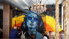 High End Restaurant Street Art Mural PortraitGraffiti Mural Art & Street Artists for Hire