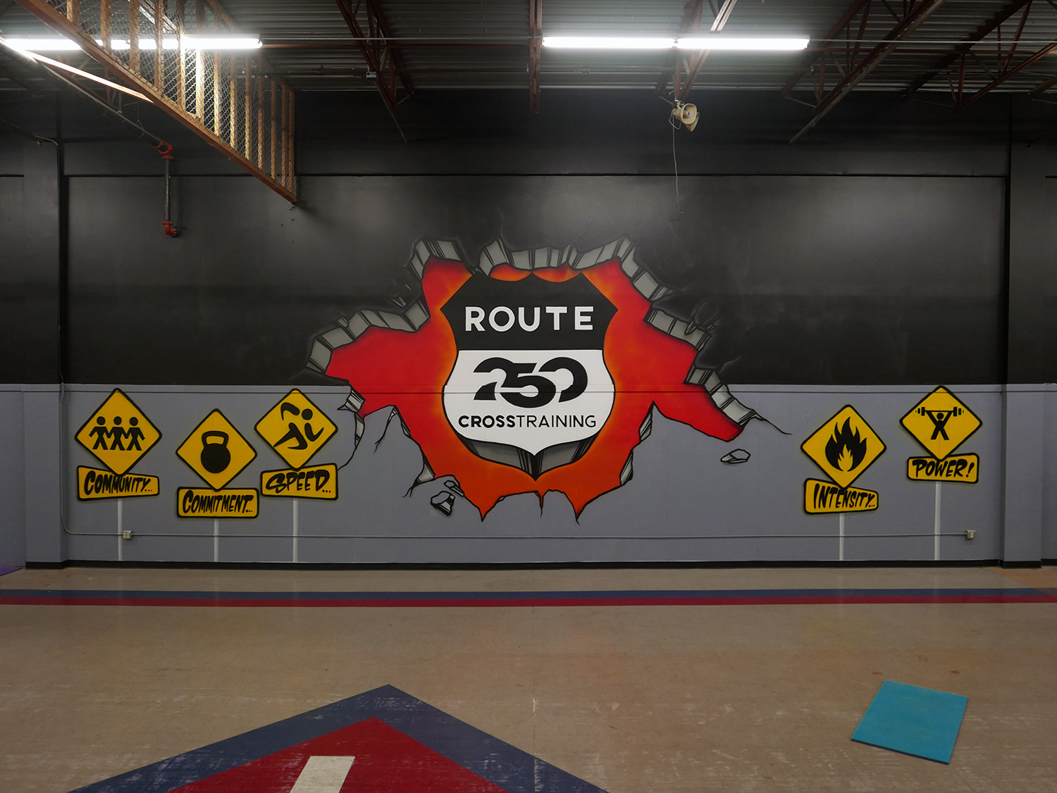 Crossfit Graffiti Mural At Route 250 Gym Ohio