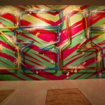 Tiger Stripe Graffiti Letters by Self Uno in Los Angeles
