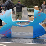 Under Armour Logo Painted at Marathon Event