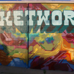 Bucketworks Abstract Mural in Minneapolis