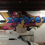 Zerorez Mural in Garage for Minneapolis Company