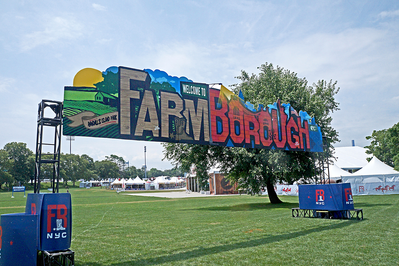 FarmBorough Graffiti Entrance Mural for Festival