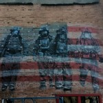 Graffiti Artist Mural of Firemen in Rapid City