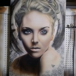 Graffiti Portrait - Spray Paint Wall Art