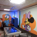 Minnie Mouse Curtain Graffiti Art Mural
