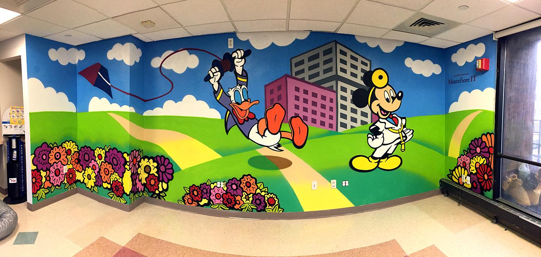 Bronx medical center hospital graffiti mural graffiti usa for Childrens mural