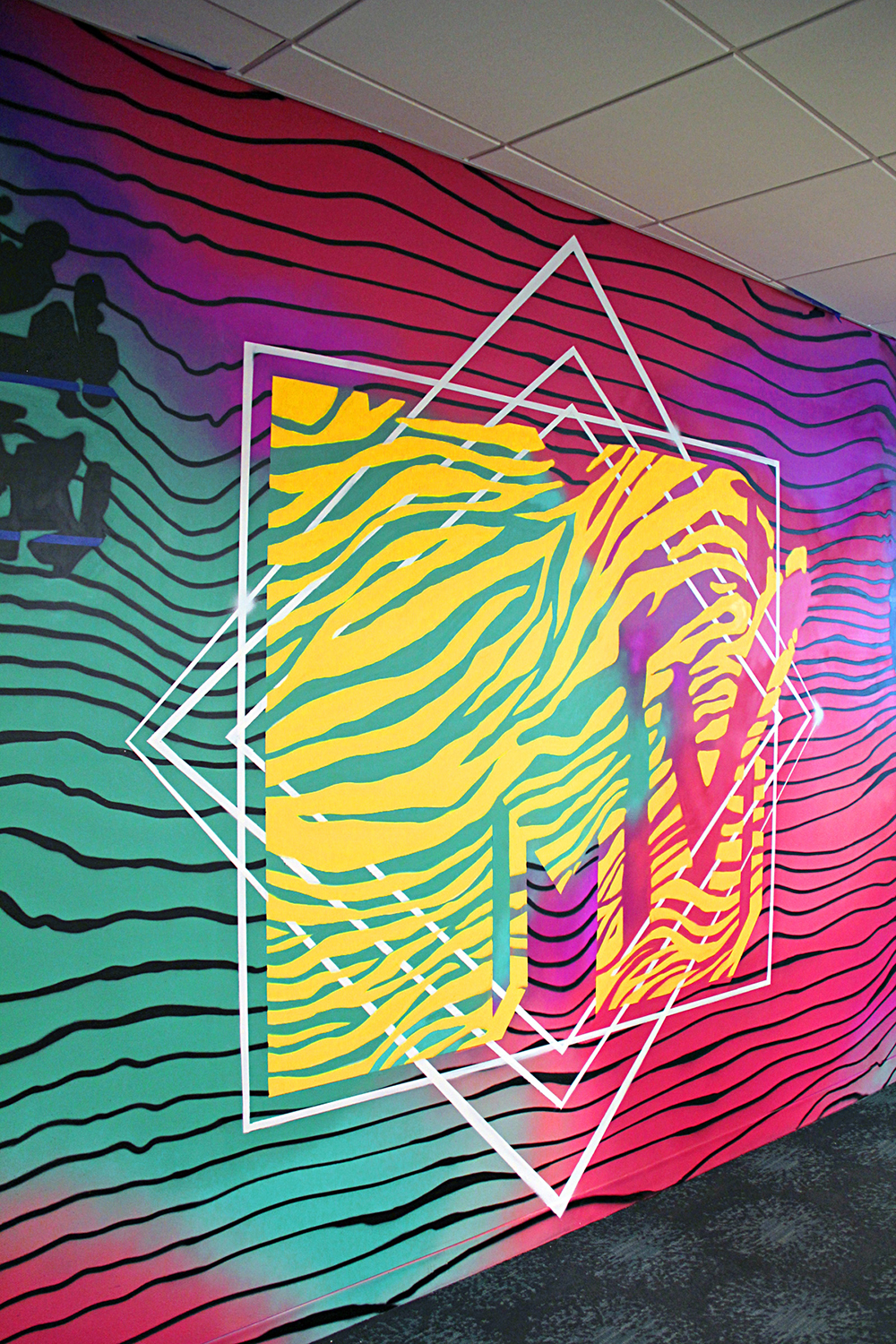 MTV Street Art Mural in Times Square Office