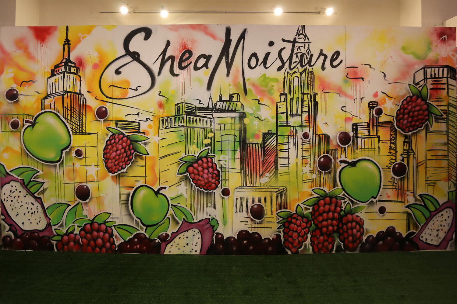 Completed LA Mural for Beauty Con Convention in Los Angeles
