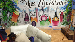 Completed Mural at BlogHer Event for Shea Moisture
