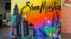 Completed Shea Moisture Artwork in Chicago, IL
