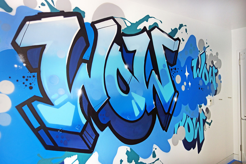 Graffiti Letters Mural for Residential Project - Interior Design