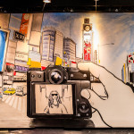 Completed Fuji Film Brush Mural at Javits Center