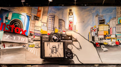 Completed Fuji Film Brush Mural at Javits Center