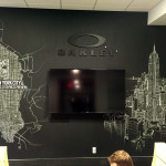 Corporate Office Chalk Art for Oakley