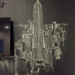 Oakley Chalk Artist Creates NY Skyline
