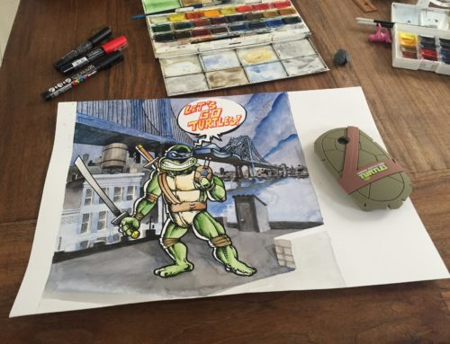 Nickelodeon x LG TMNT – Graffiti Illustration Project