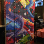 Chicago Phone Case Wall Abstract Mural for Kargo