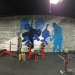 Philadelphia Gym Mural Silhouettes