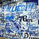 Blue Letter Collage Phillis 76ers Graffiti
