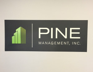 Pine Management Hand Painted Logo