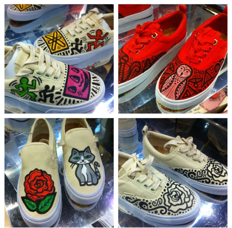 Keith Haring Banksy Art on Sneakers - Customization