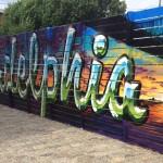 Philadelphia Chrome Lettering Mural Art in PA