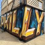 Philly Street Art Mural Metallic Gold