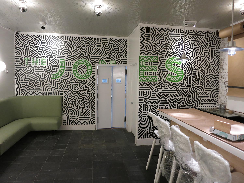 NY Restaurant Mural Abstract