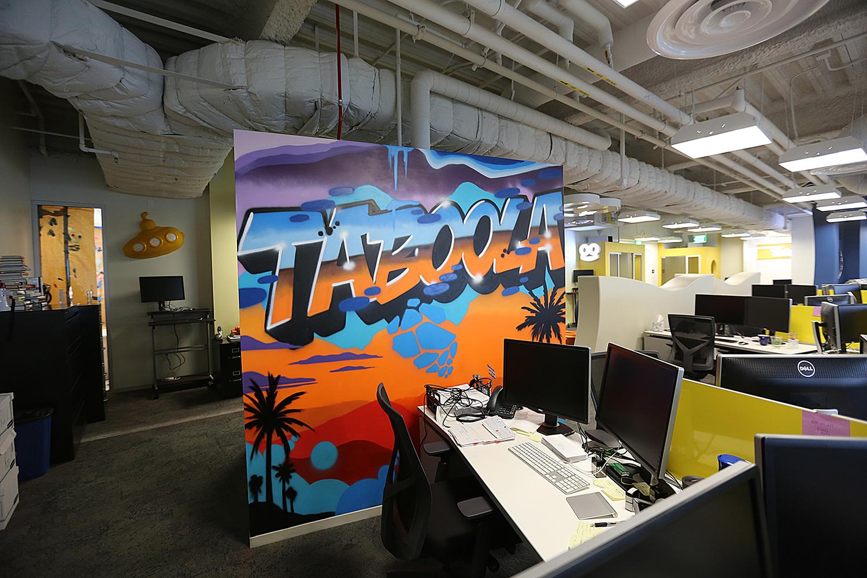 Office Street Art for Taboola in Los Angeles