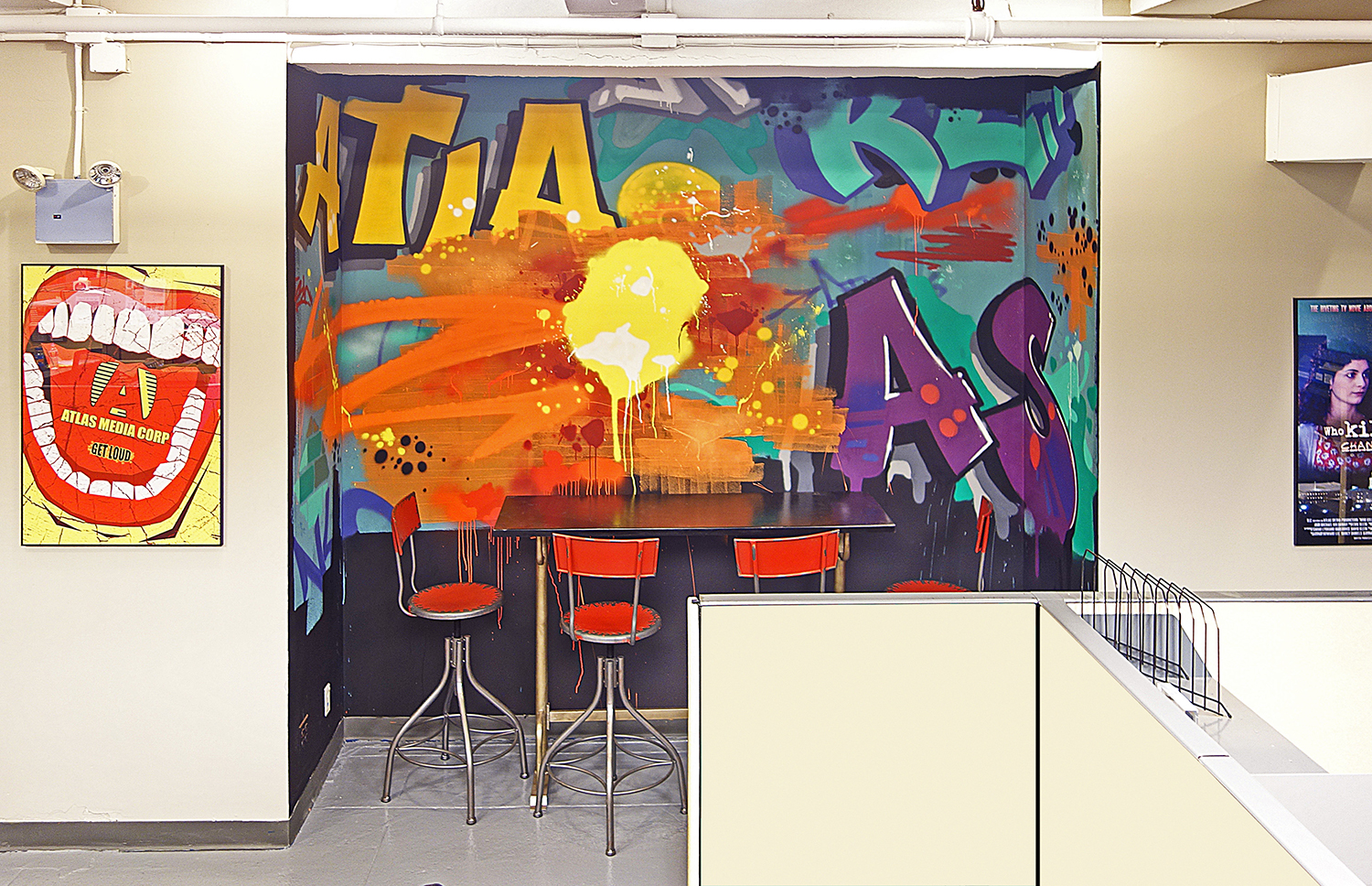 Interior Mural Artist - NYC Street Art Installation in Office