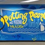 Street Art Lettering on Combe Mural
