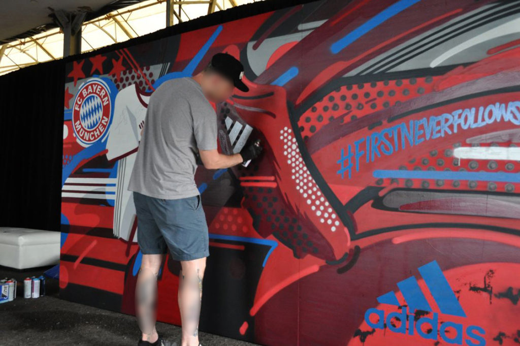 Vizie Painting Live Art for Adidas Activation