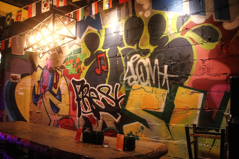 Chinese graffiti restaurant