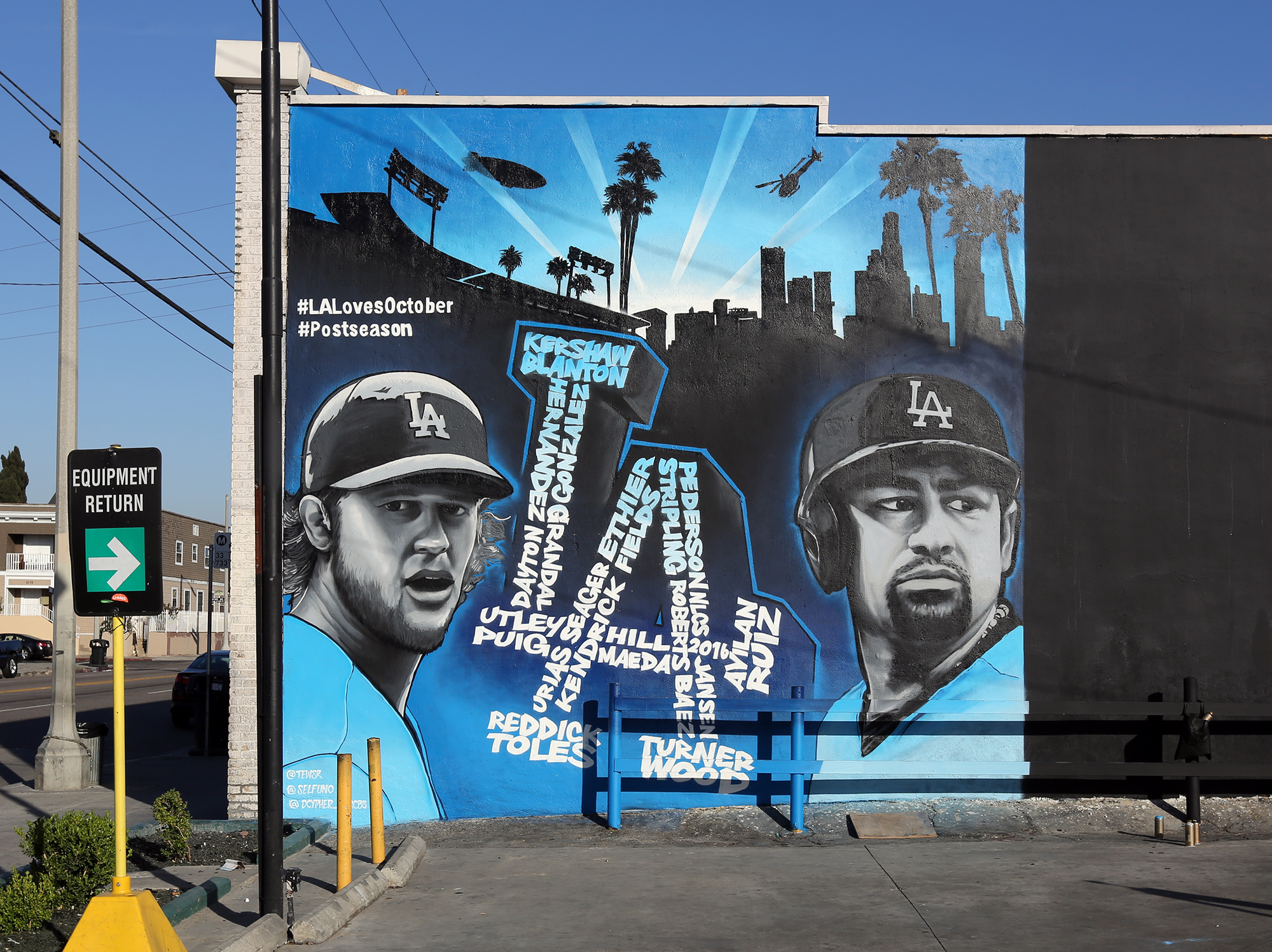 La Street Artist For Hire Mlb Dodgers Graffiti Usa