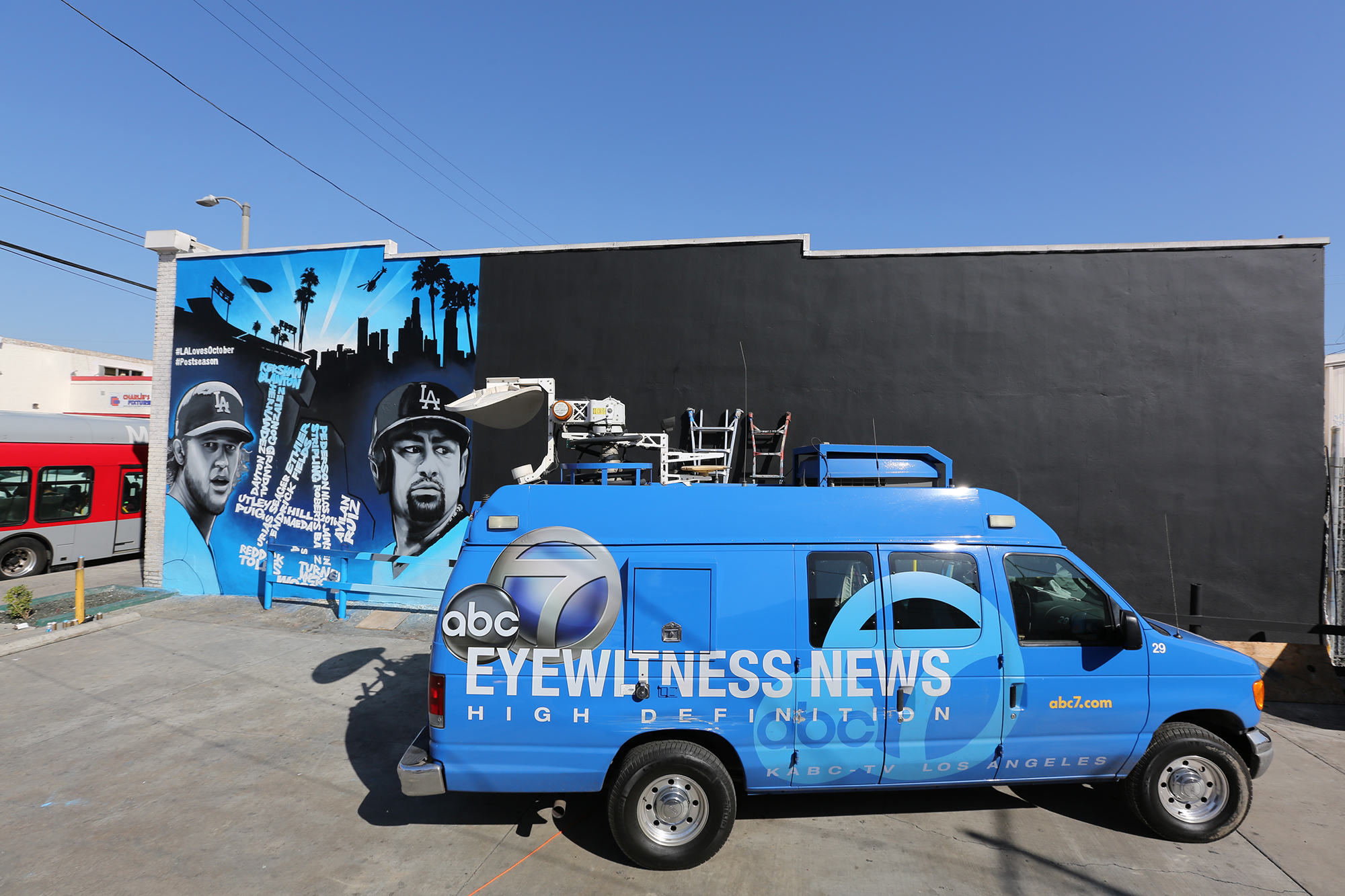 News Van for MLB Graffiti Mural