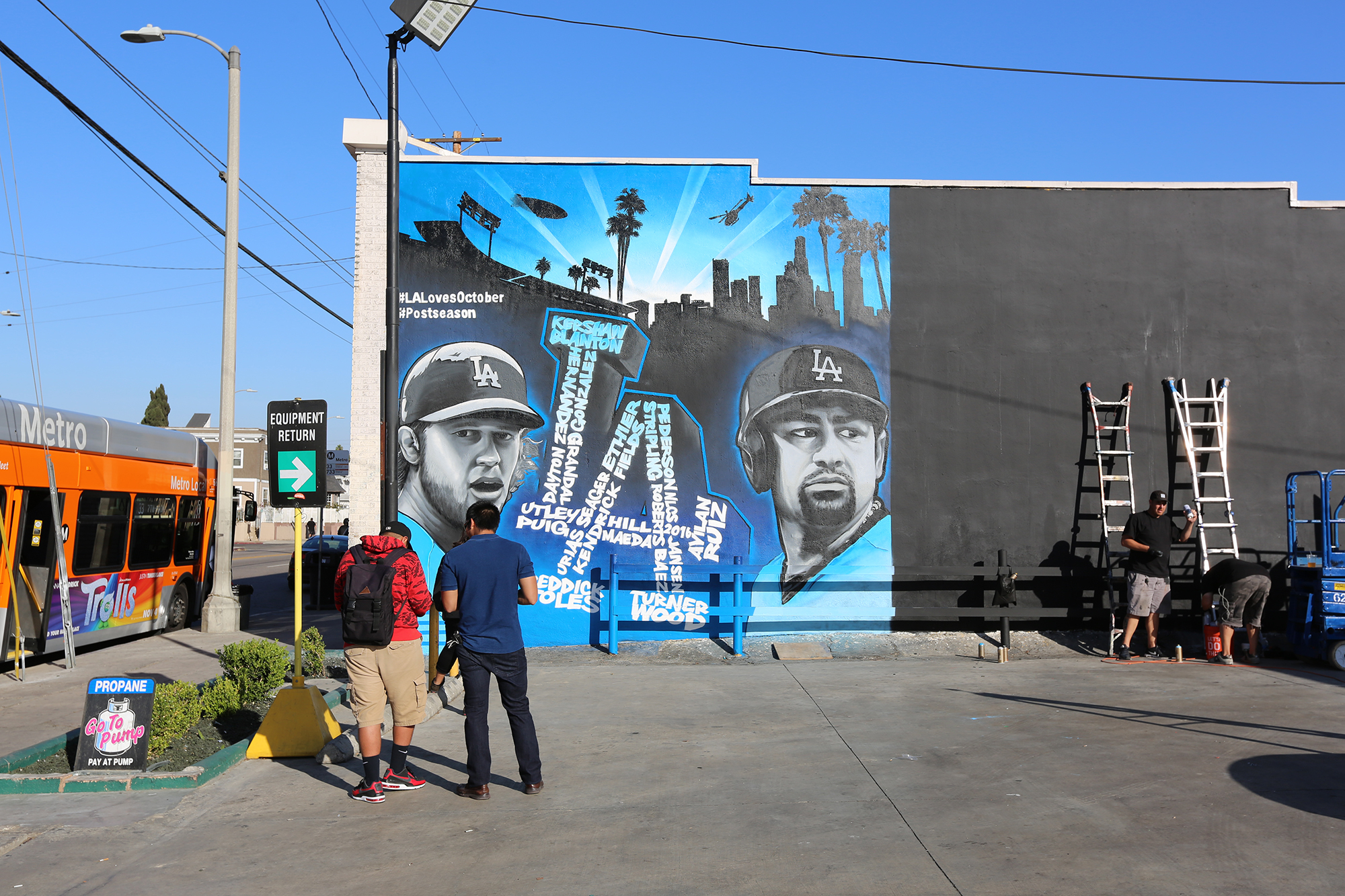 MLB Mural for LA Dodgers in Los Angeles