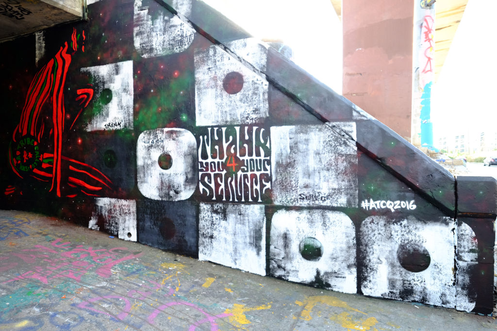 Mural for Album Release - a tribe called quest - epic records