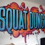 Squat Dungeon Garage Graffiti in NJ