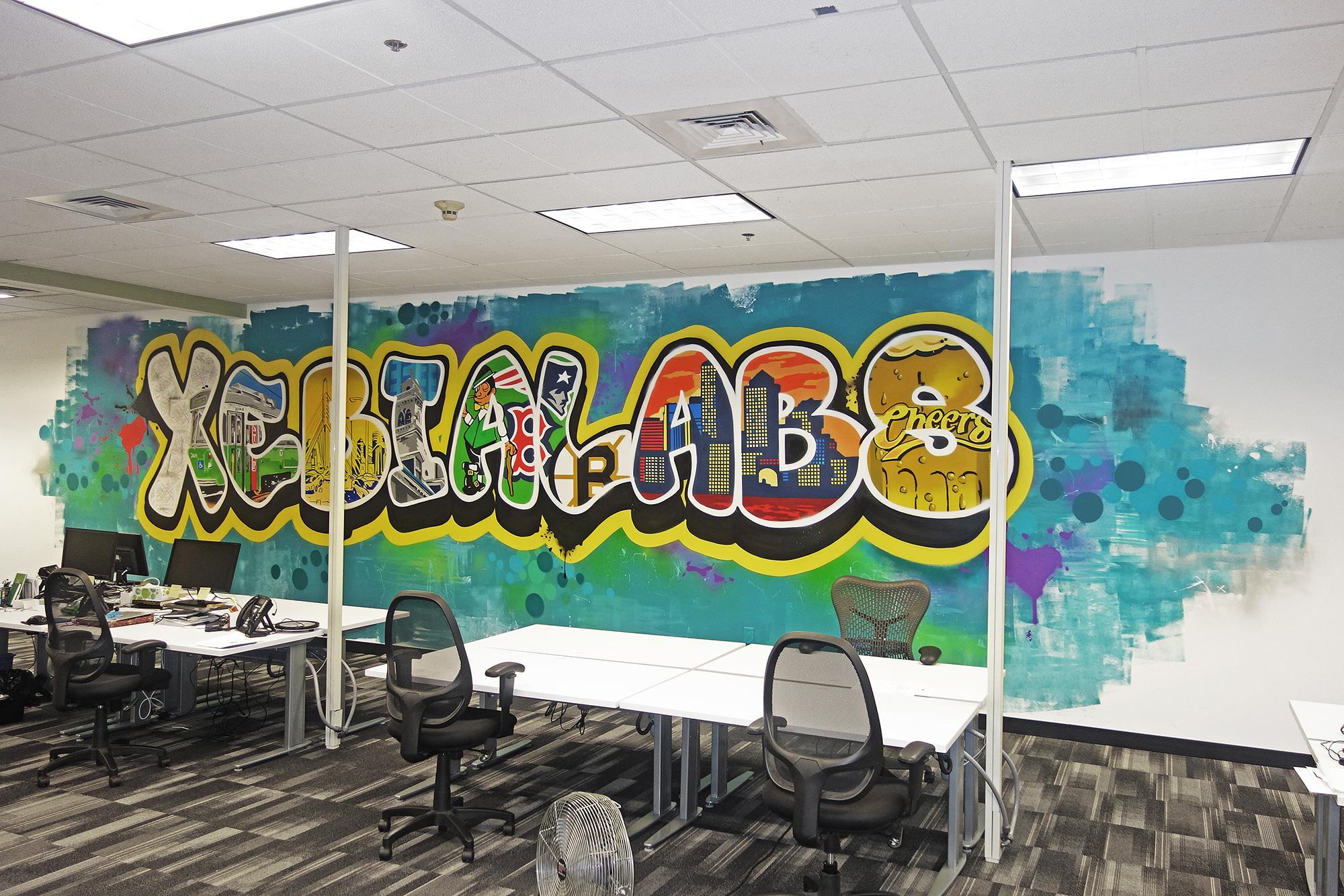 office graffiti wall. Boston Graffiti Artist For Hire Office Wall F