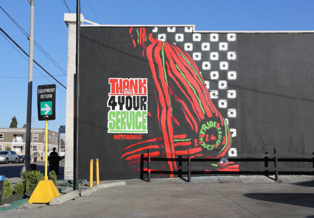 ATCQ Mural by Self Uno in LA