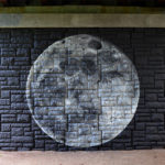 Street Art Mural of Moon & Planets