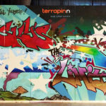 Graffiti Lettering Mural for Terrapinn by Atlanta Artist