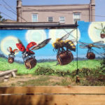 Alamaba Street Artist - Bee Mural in Birmingham
