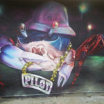 Houston TX Street Artist paints Crab