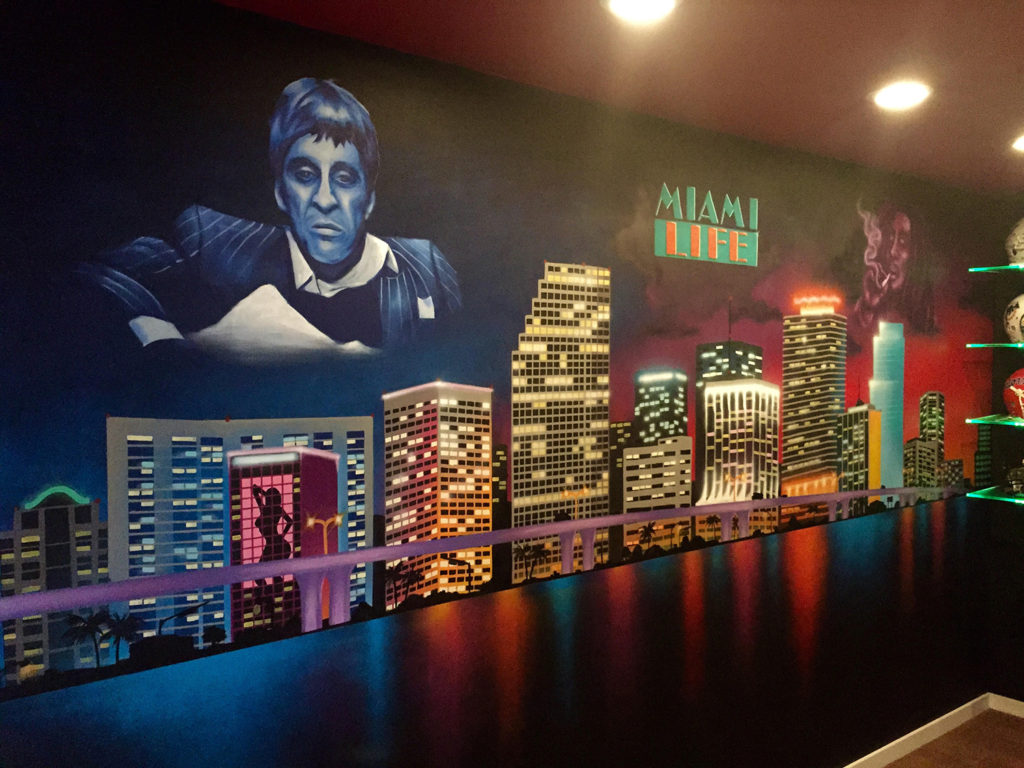 Miami Vice Indoor Mural