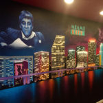 Miami Vice Indoor Mural
