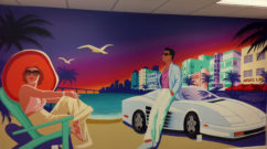 Miami Vice Graffiti Mural Indoors