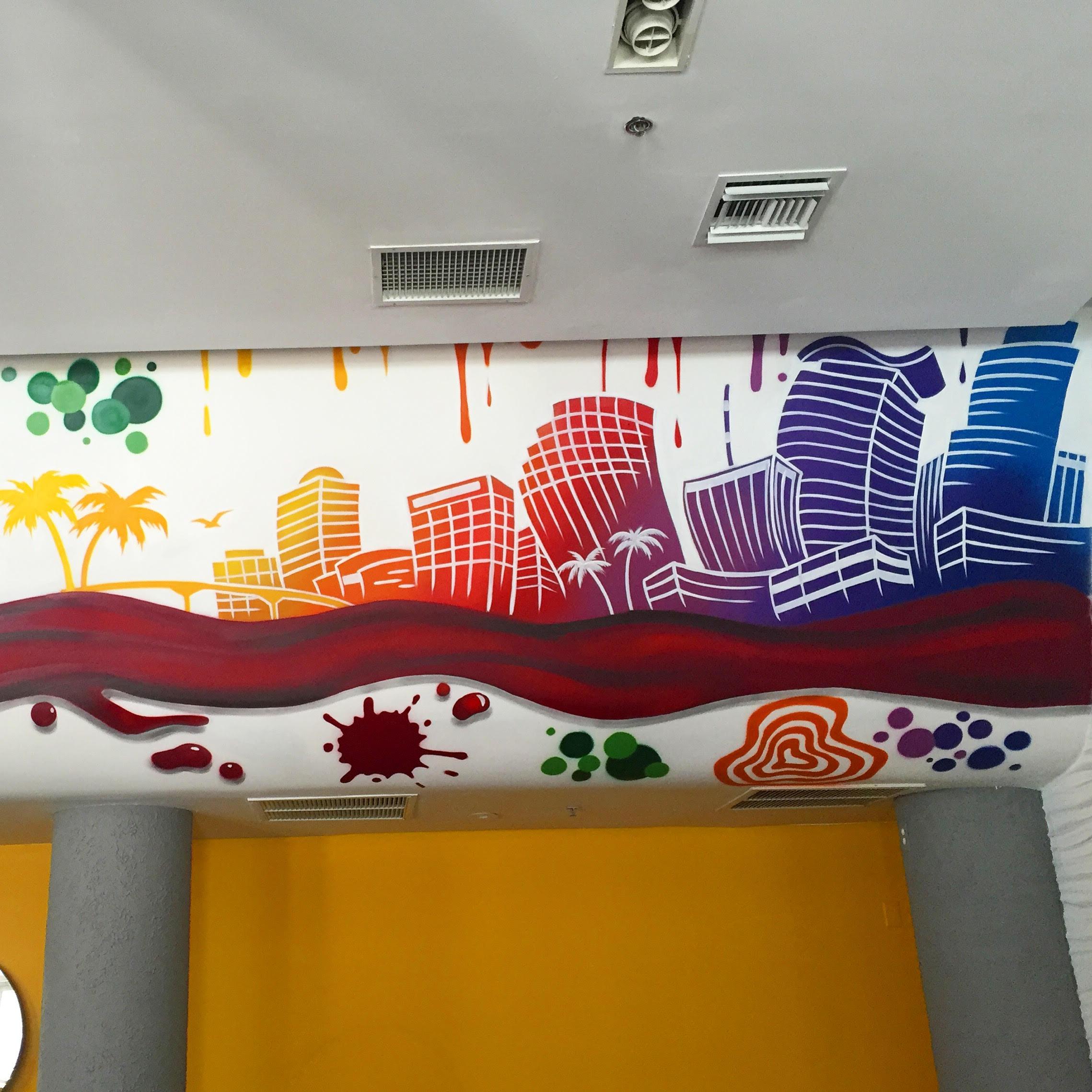 Miami Florida Colorful Mural